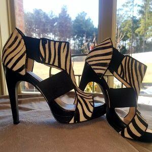 Calvin Klein calf hide Zebra print heel Size 6 M